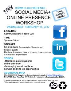 Social Media + Online Presence Workshop